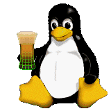 [virtual-beer penguin, 8-bit interlaced PNG]