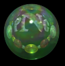 [iridescent green ball from 1600x1200 black logo image]