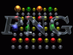 [end of final pass:  256x192 PNG-balls logo on black background]