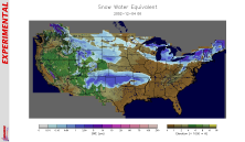 [US Snow Water Equivalent relief map, 2002-12-04]